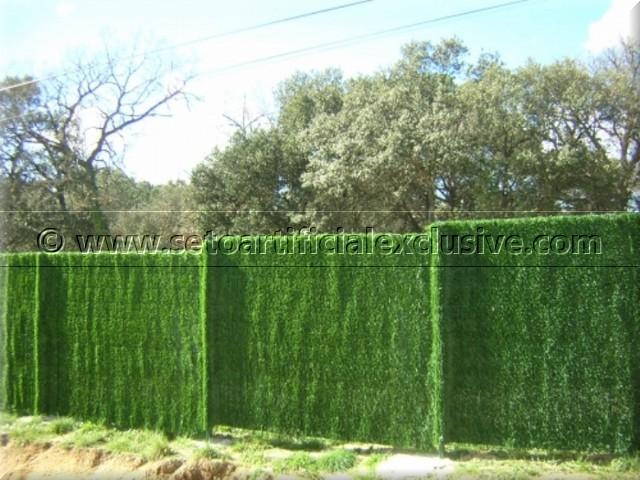 Seto decorativo artificial para vallas y ocultaciones - Vallas de plastico para jardin ...
